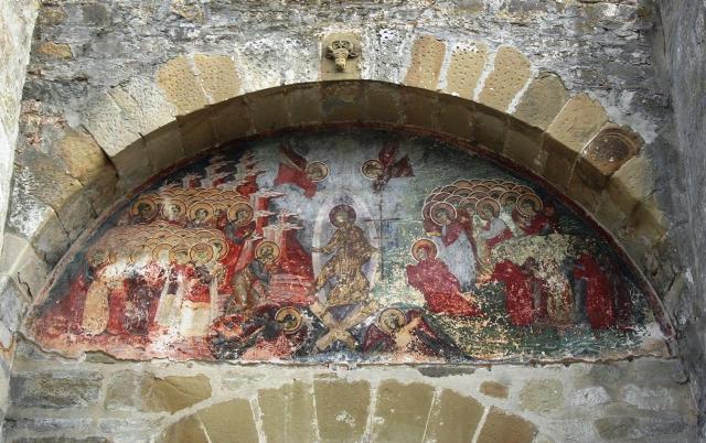 Η Ανάσταση του Χριστου. Εξωτερική τοιχογραφία 16ου αιώνα. Μονή Σουτσεβίτσας-Ρουμανία
