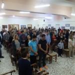 Οι νέοι του αγίου Αχιλλίου κατά τον αγιασμό