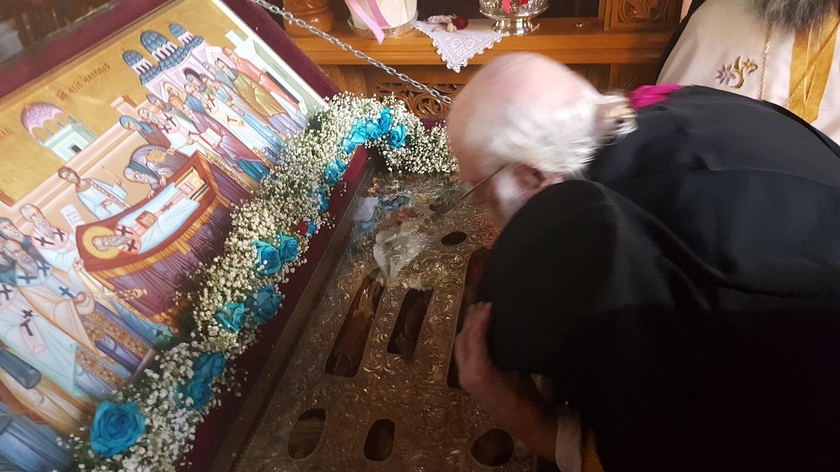 Ο Αρχιεπίσκοπος Αλβανίας,Αναστάσιος στο Ναό μας.