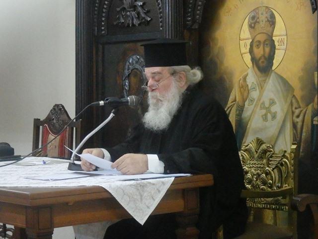 Ο π.Ιωαννίκιος στη Σχολή γονέων του Αγίου Αχιλλίου.