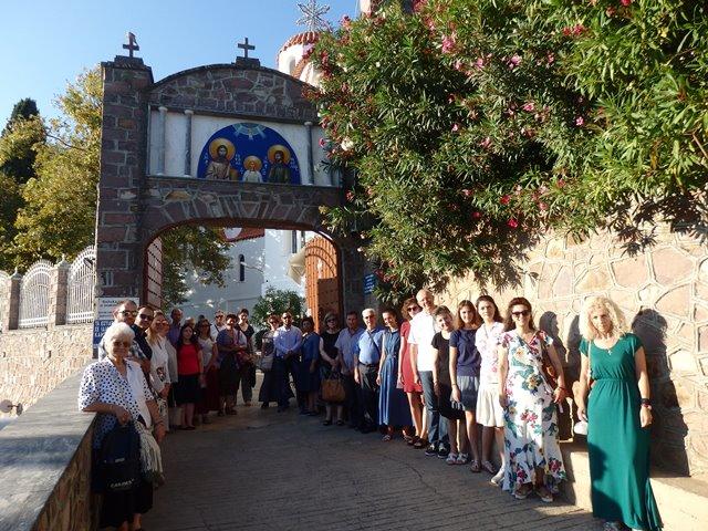 Στα προσκυνήματα της αγιοτόκου Λέσβου βρέθηκε η ενορία του Αγίου Αχιλλίου.